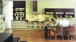 cuisine verte et marron organisation cuisine vert anis et marron