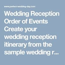 wedding reception program sle best 25 reception order of events ideas on country