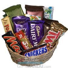 chocolate gift baskets cadbury mix chocolates gift basket 14 chocolates send gifts to