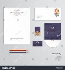 Letterhead Business Card vector identity templates letterhead envelope business stock