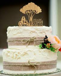 country wedding cake topper tractor wedding cake topper and groom wedding cake