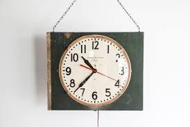 wall clock industrial wall clock unique wall clock modified