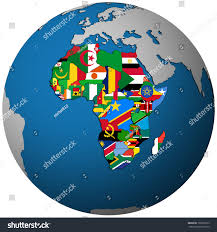 Map Of Africa Countries by African Countries Territories Flag On Map Stock Illustration