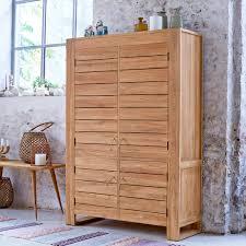 meubles en teck massif armoire en teck 100 massif meuble style classique tikamoon