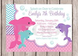 printable pink dolphin birthday party invitation pink and