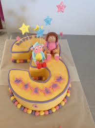 dora and boots number 3 cake coastal cake design