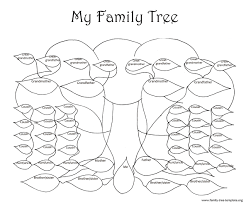 10 best images of family tree fill in color fill blank family