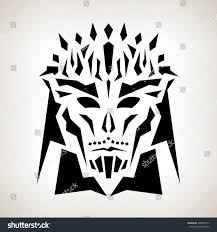 abstract mask tribal style tattoo mask stock vector 308854772