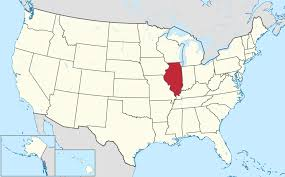 United States Map With Abbreviations by Where Is Illinois Location Of Illinois Illinois Map Chicago