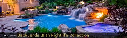 Natural Backyard Pools by Backyard Swimming Pools Waterfalls U0026 Natural Landscaping Nj