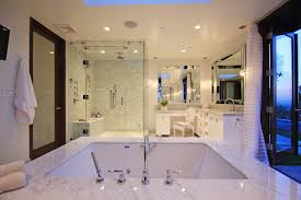beveled mirror bathroom contemporary with contemporary beveled