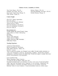 Volunteer Service On Resume Resume Template For Volunteer Work U2013 Brianhans Me Resume