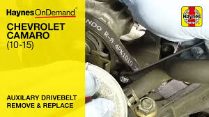 how to replace an auxiliary drive belt on the chevrolet camaro