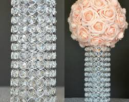 Crystal Vases For Centerpieces Bling Centerpieces Etsy