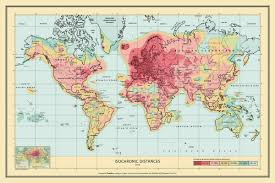 travel times images Isochronic world map jpg