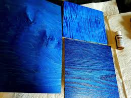 using wood dyes on maple and oak blue dye blue wood stain