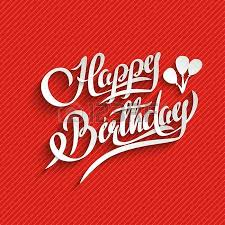 happy birthday hand lettering greeting card vector background