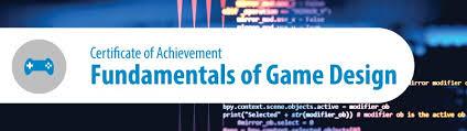 online design of certificate fundamentals of game design certificate