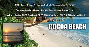 cocoa florida last minute thanksgiving weekend getaway