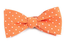 dotted dots bow ties orange ties bow ties and pocket squares