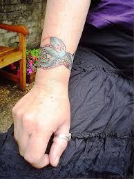 33 magnifying snake tattoos on wrist