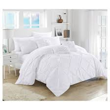 10 Pc Comforter Set Valentina Pinch Pleated U0026 Ruffled 10 Piece Comforter Set Chic