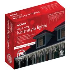 noma clear icicle lights 150 ct by noma at mills
