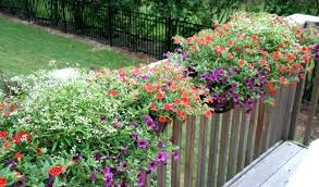 deck railing flower boxes railing planter for porch and deck rails