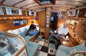 Boat Houses And Interiors  Boat House Interior Blue Soifa - Boat interior design ideas