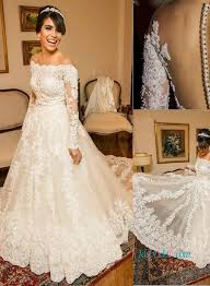 Lace Wedding Dress Long Sleeve Bridal Gowns Cheap Lace Wedding Dresses With Long Sleeves