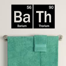 Bathroom Decals For Kids Periodic Table Bath Decal Element Decor Bathroom Decals