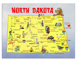 Fort Carson Map Maps Of North Dakota State Collection Of Detailed Maps Of North