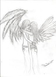kiss of angel sketch by kutu111 on deviantart