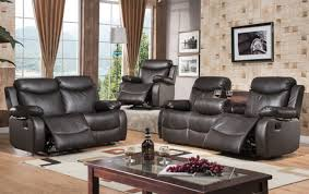 Cheap Loveseat Recliner Living Room Black And White Sofa Set Tan Leather Reclining Sofa