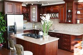 kitchen pictures cherry cabinets cherry kitchen cabinets with white granite www redglobalmx org
