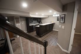 white kitchen cabinets with vinyl plank flooring project gallery basement with traditional design troy mi