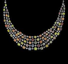 color diamond necklace images The rainbow l j west diamonds