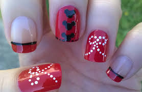 life world women minnie mouse inspired red nail art