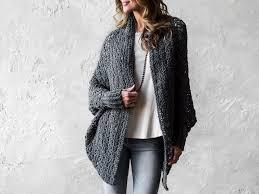 Cocoon Sweater Cardigan Carleton Cocoon Sweater Crochet Kit Craftsy