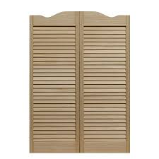 Louvered Doors Interior Shop Pinecroft Louvered Cafe Solid Pine Cafe Interior Door