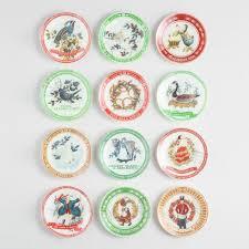 12 days of plates set of 12 world market