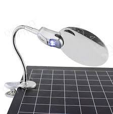 Desk Light With Magnifying Glass Clamp On Magnifying Lamp Ebay