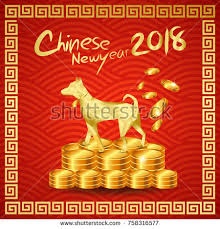 new year gold coins happy new year 2018 millionaire stock vector 758316577