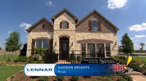 lennar homes village builders at hudson heights in plano tx youtube