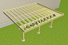 cantilevered deck cantilevered deck frame suburban boston decks and porches blog