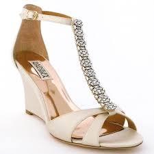 wedding shoes badgley mischka badgley mischka wedding shoes ivory wedge bridal shoes