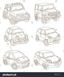 set cars coloring book stock vector 183315179 shutterstock