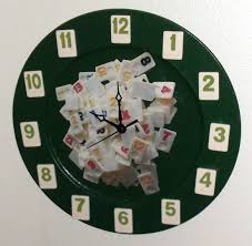 rummikub clock for your game room decouppaged photo in