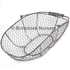 rustic metal wire mesh storage trug vintage wedding kitchen