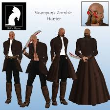 Zombie Hunter Costume Second Life Marketplace Km Steampunk Zombie Hunter Avatar